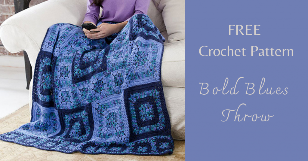 I love Yarn Forever Featured Image_Bold Blues Throw