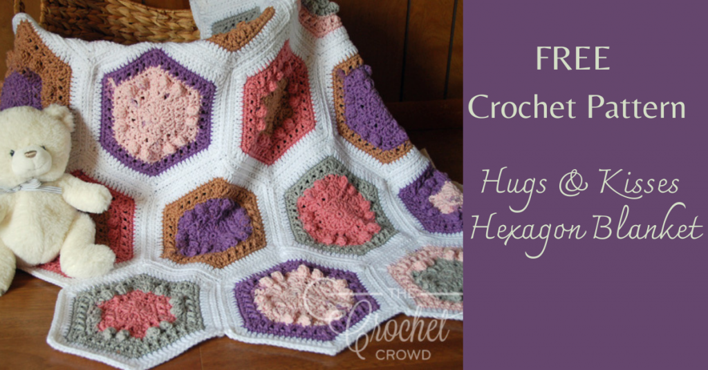 I love Yarn Forever Featured Image_Hugs and Kisses Hexagon Blanket