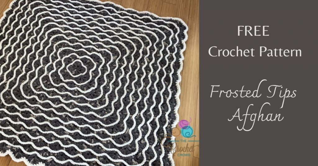 I love Yarn Forever Featured Image_crochet Frosted Tips Afghan