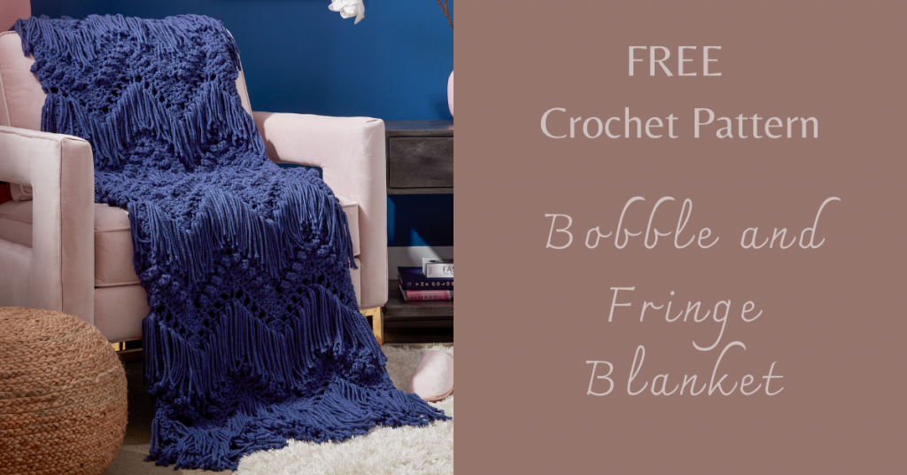I love Yarn Forever Featured Image_Bobble and Fringe Crochet Blanket