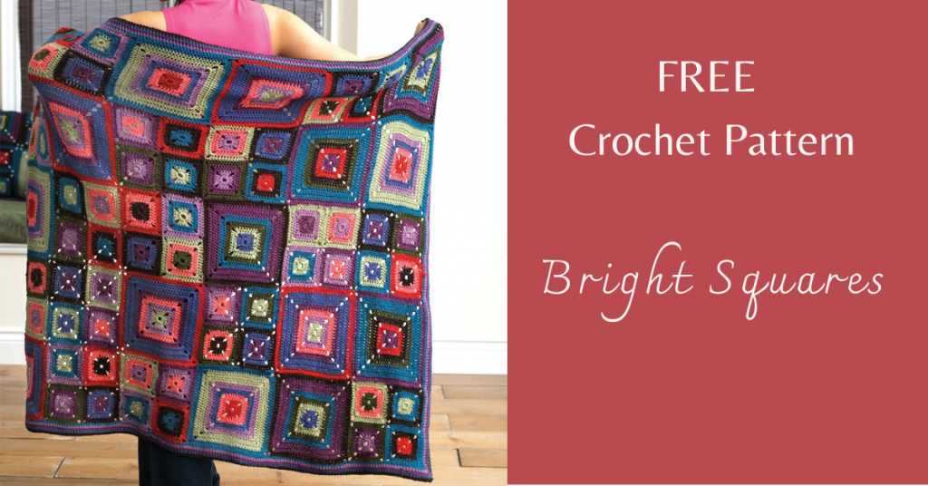 I love Yarn Forever Featured Image_Bright Squares crochet pattern