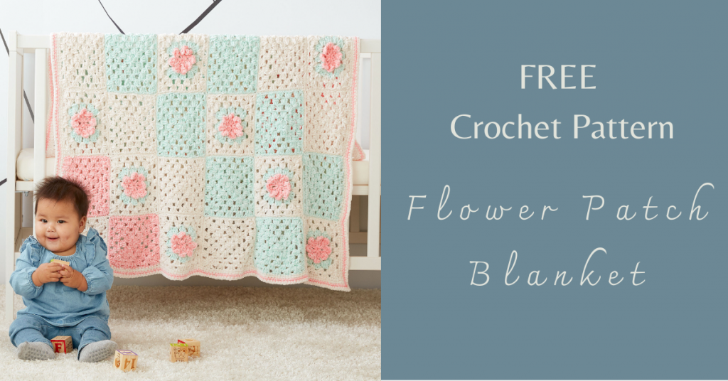 I love Yarn Forever Featured Image_Crochet Flower Patch Blanket