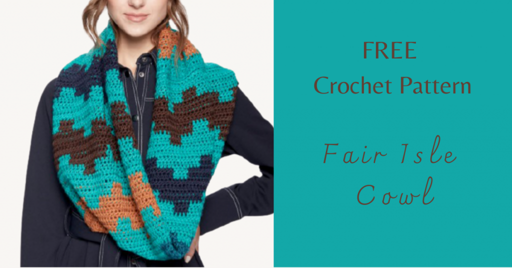 I love Yarn Forever Featured Image_Fair Isle Crochet Cowl