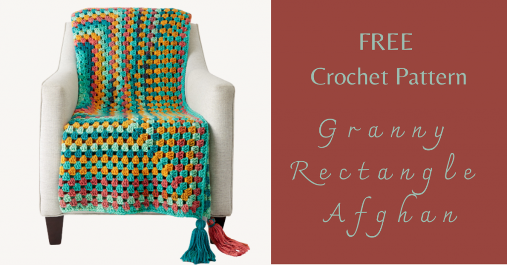 I love Yarn Forever Featured Image_Granny Rectangle Afghan crochet pattern
