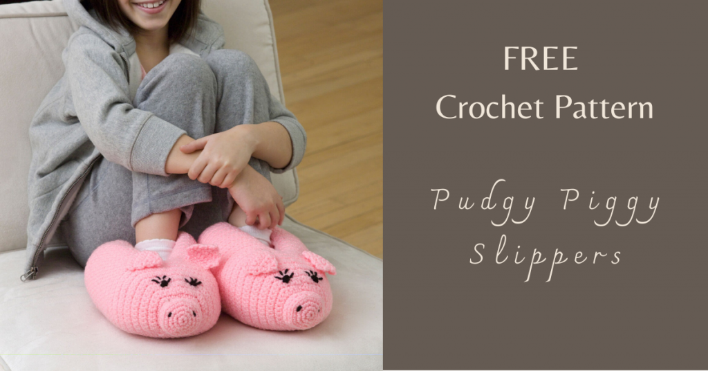 I love Yarn Forever Featured Image_Pudgy Piggy Crochet Slippers