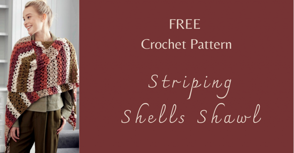 I love Yarn Forever Featured Image_Striping Shells Crochet Shawl
