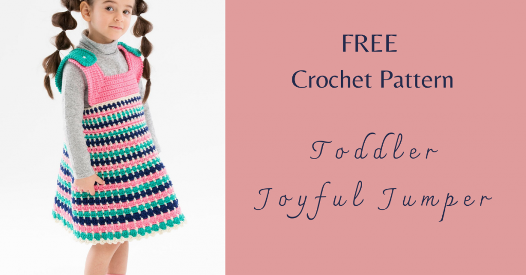 I love Yarn Forever Featured Image_Toddler Joyful Crochet Jumper