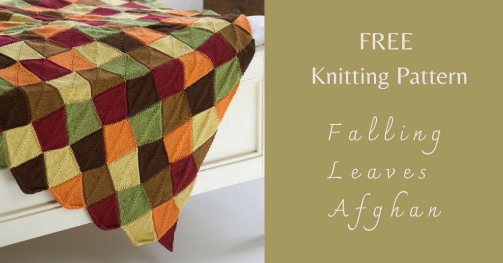 I love Yarn Forever Featured Image_Falling Leaves Afghan Knitting Pattern