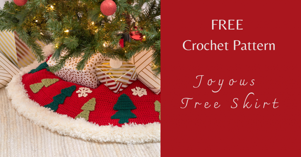 I love Yarn Forever Featured Image_Joyous Tree Skirt crochet