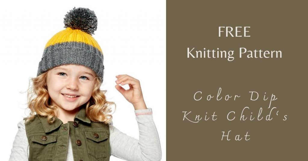 I love Yarn Forever Featured Image_Color Dip Knit Child's Hat