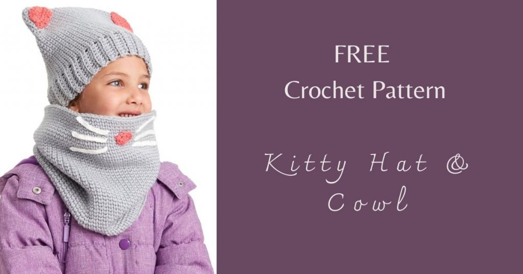 I love Yarn Forever Featured Image_Crochet Kitty Hat & Cowl
